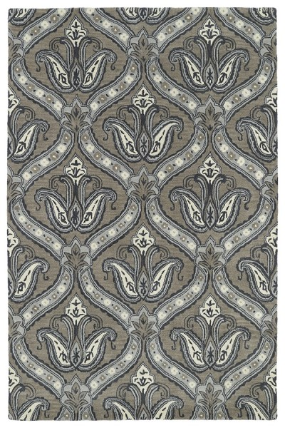 Dark Taupe, Grey, Ivory (27) Transitional Area Rug