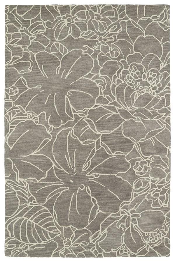 Taupe, Ivory (27) Floral / Botanical Area Rug