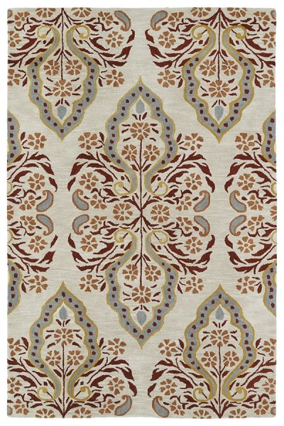 Mushroom, Brick, Paprika, Gold(107) Contemporary / Modern Area Rug