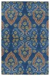 Product Image of Contemporary / Modern Blue, Denim, Gold, Taupe (17) Area Rug