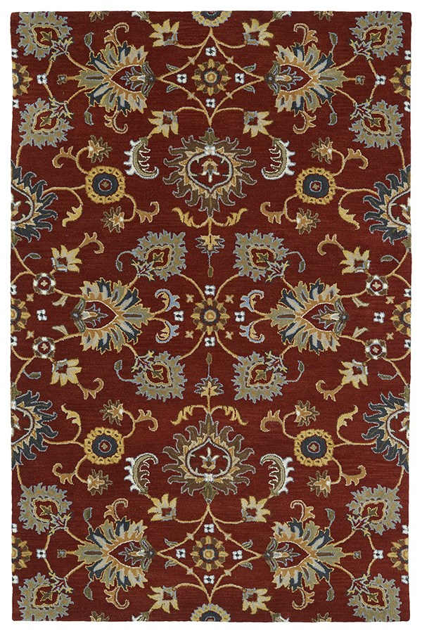 Red (25) Traditional / Oriental Area Rug