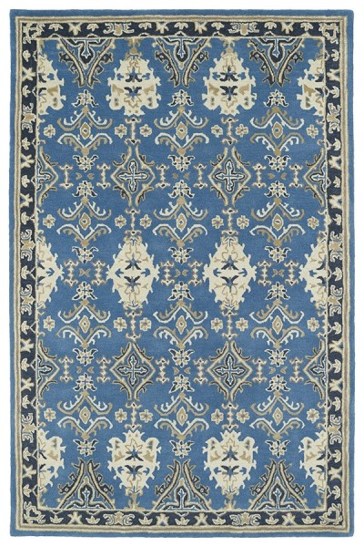 Blue (17) Traditional / Oriental Area Rug