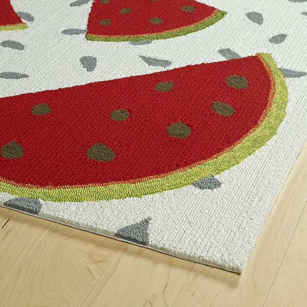 Ivory (01) Outdoor / Indoor Area Rug