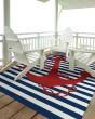 Product Image of Navy (22) Outdoor / Indoor Area Rug