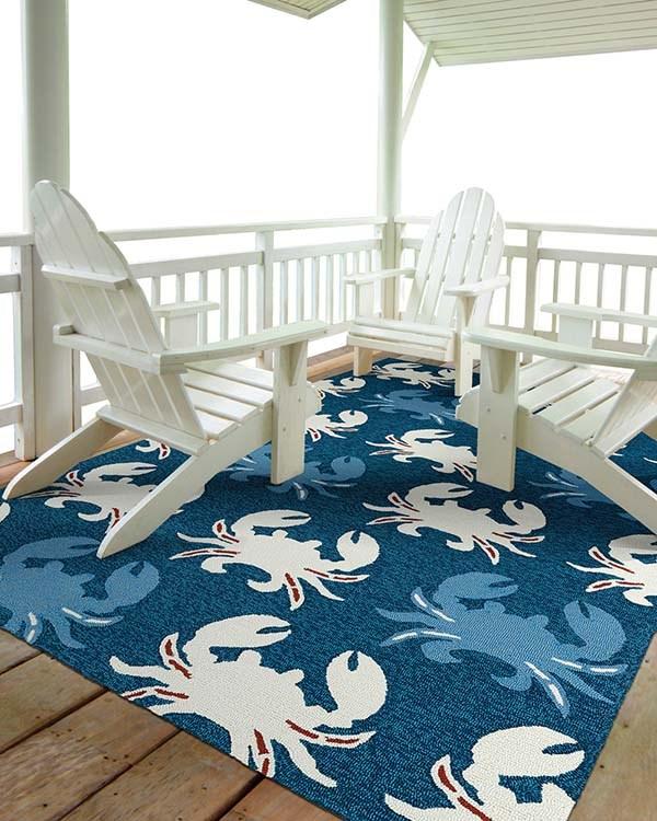Navy (22) Outdoor / Indoor Area Rug