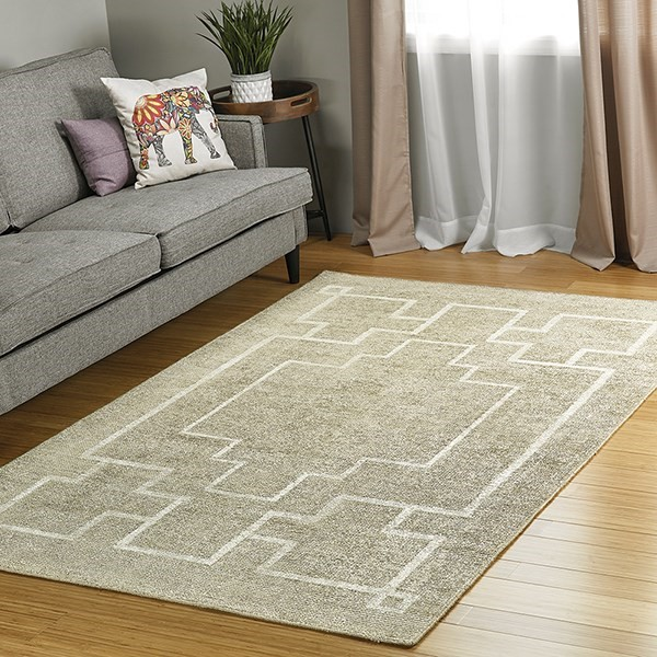 Sand, Cream (47) Contemporary / Modern Area Rug