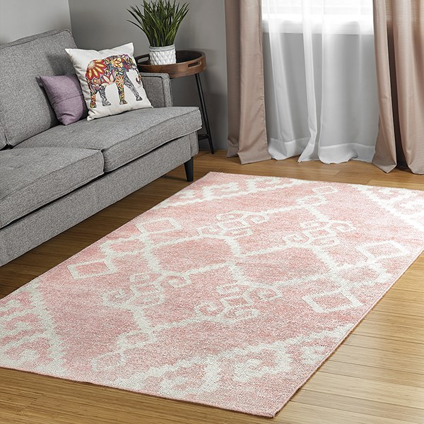 Pink, Ivory (92) Transitional Area Rug