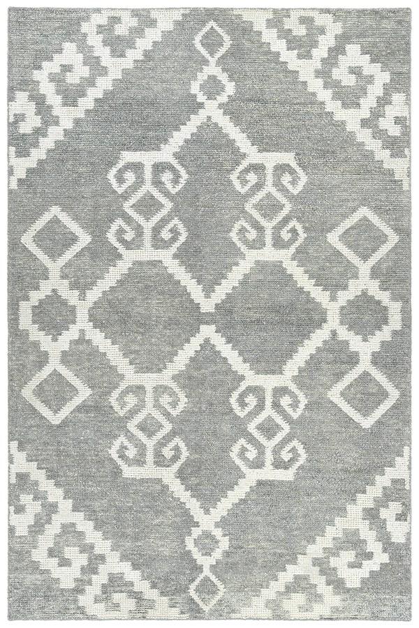 Grey, Ivory (75) Transitional Area Rug