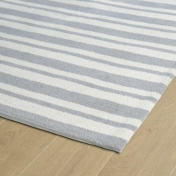 Grey (75) Striped Area Rug
