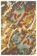 Product Image of Abstract White, Orange, Mocha (86) Area Rug