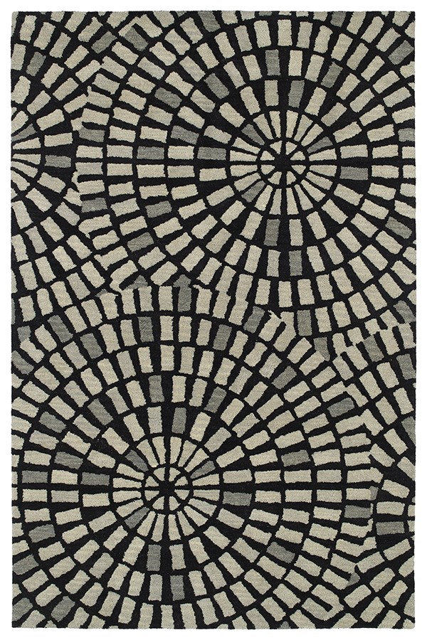 Black (02) Contemporary / Modern Area Rug