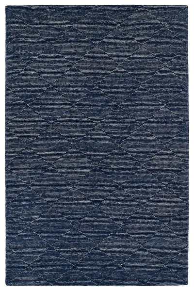 Navy, Silver, Steel Blue, Graphite (22) Contemporary / Modern Area Rug