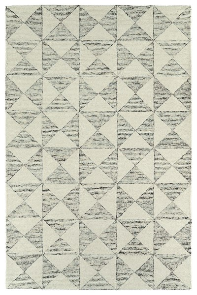 Ivory, Steel Blue, Linen, Sable (01) Transitional Area Rug
