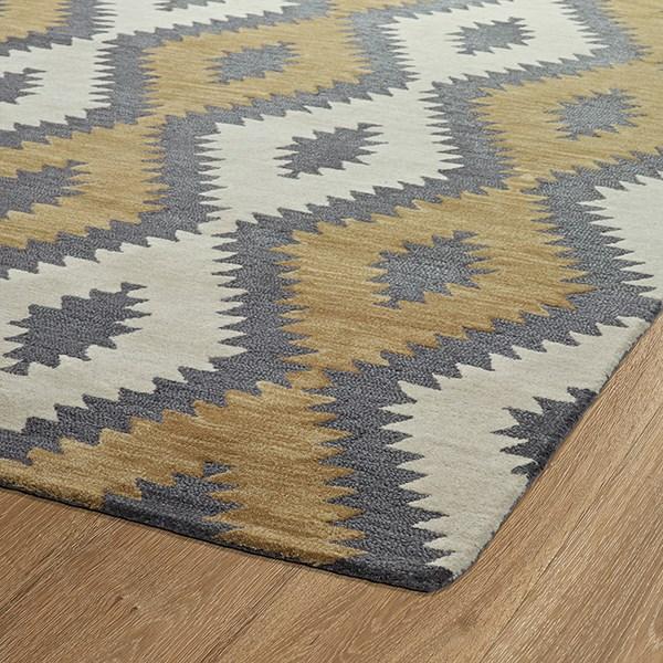 Camel, Steel, Charcoal, Linen (43) Southwestern / Lodge Area Rug