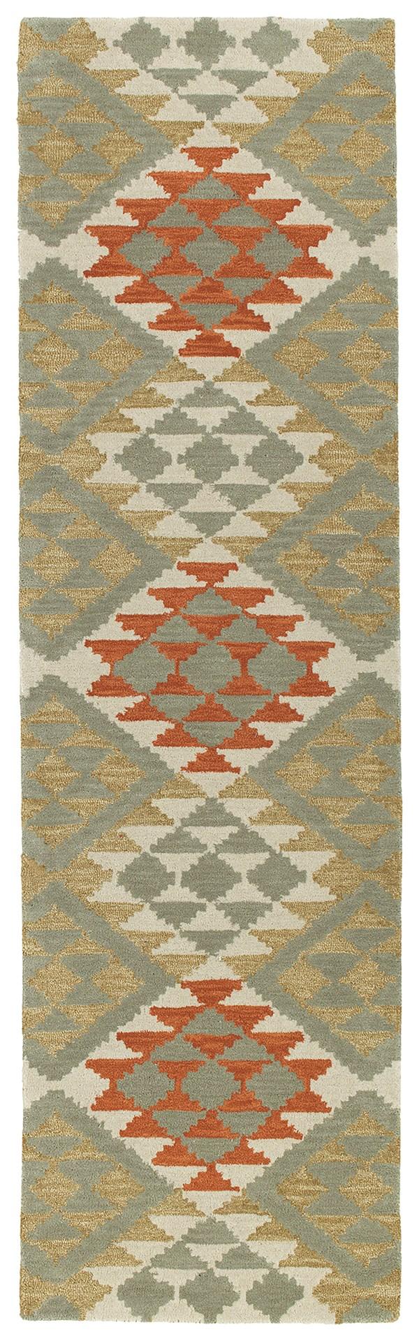 Paprika, Grey, Heathered Camel, Paprika (53) Southwestern / Lodge Area Rug