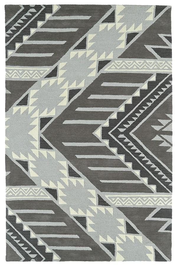Grey, Ivory, Dark Grey, Shale Grey (75) Southwestern / Lodge Area Rug