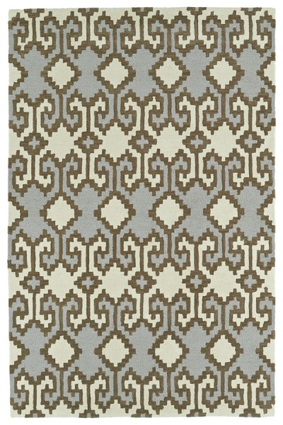 Ivory, Shale Brown, Brown (01) Moroccan Area Rug