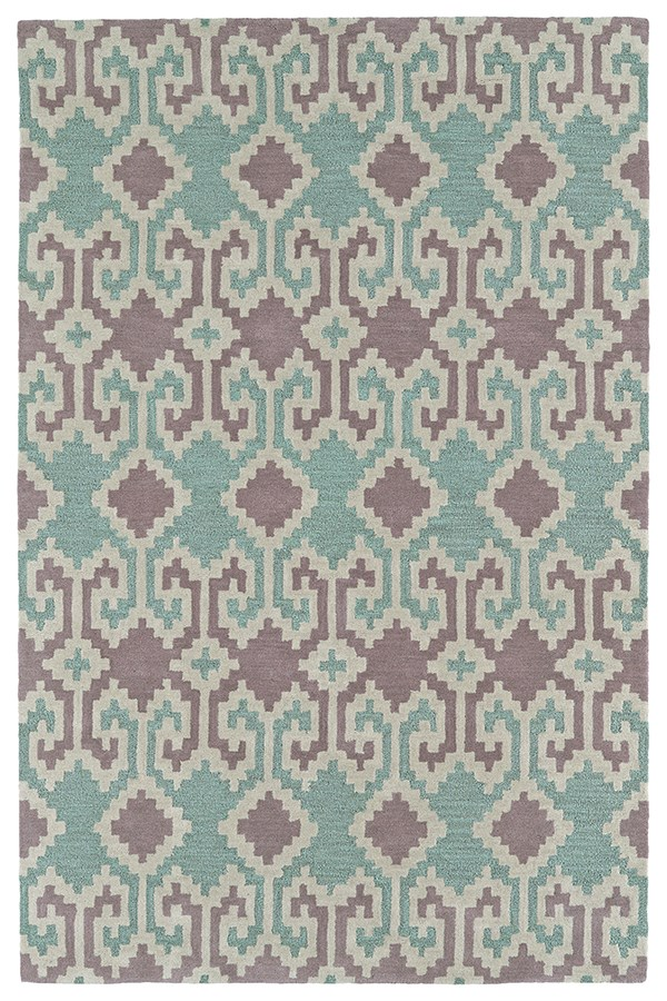 Purple, Dark Turquoise, Linen, Mauve (95) Southwestern / Lodge Area Rug
