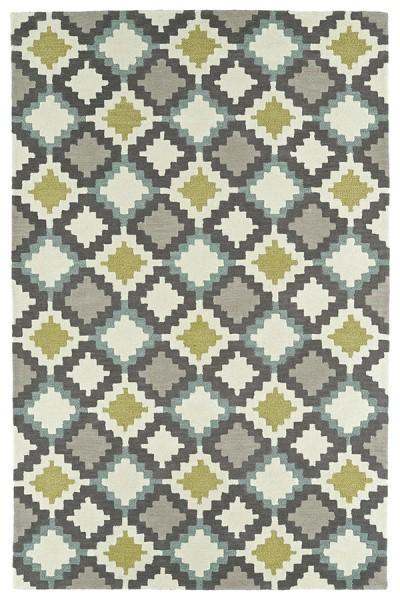 Ivory, Dark Grey, Taupe, Shale Grey (01) Geometric Area Rug