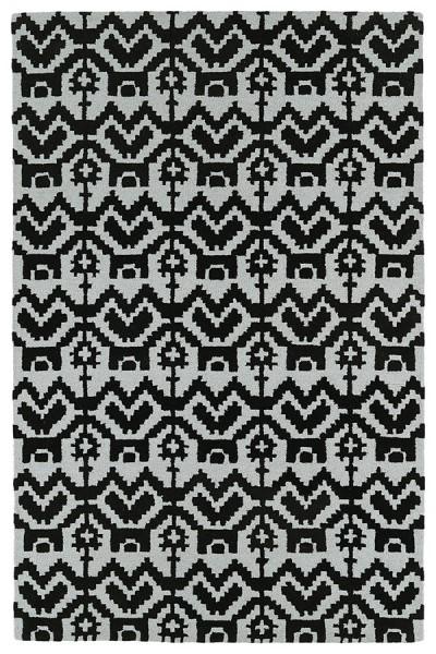 Black, Silver (02) Moroccan Area Rug