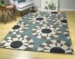Product Image of Grey, Ivory, Dark Turquoise, Medium Grey (75) Geometric Area Rug