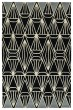 Product Image of Geometric Black, Linen, Silver (02) Area Rug