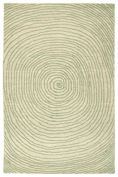 Green, Linen, Dark Jade, Silver (50) Contemporary / Modern Area Rug