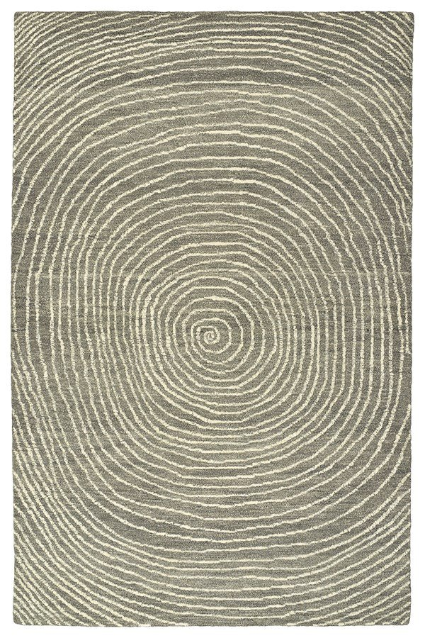 Grey, Charcoal, Graphite, Linen (75) Contemporary / Modern Area Rug