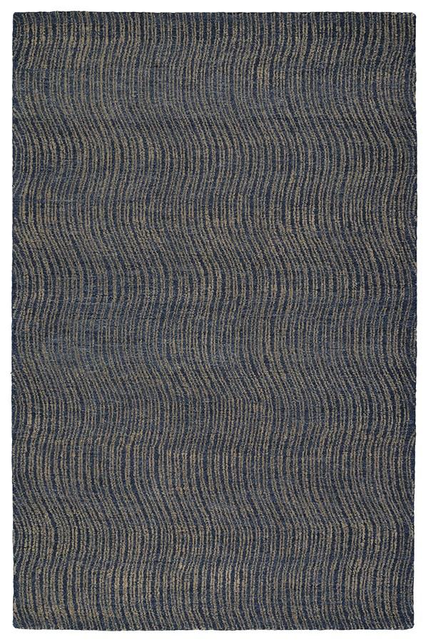 Blue, Denim, Light Brown, Light Blue (17) Transitional Area Rug