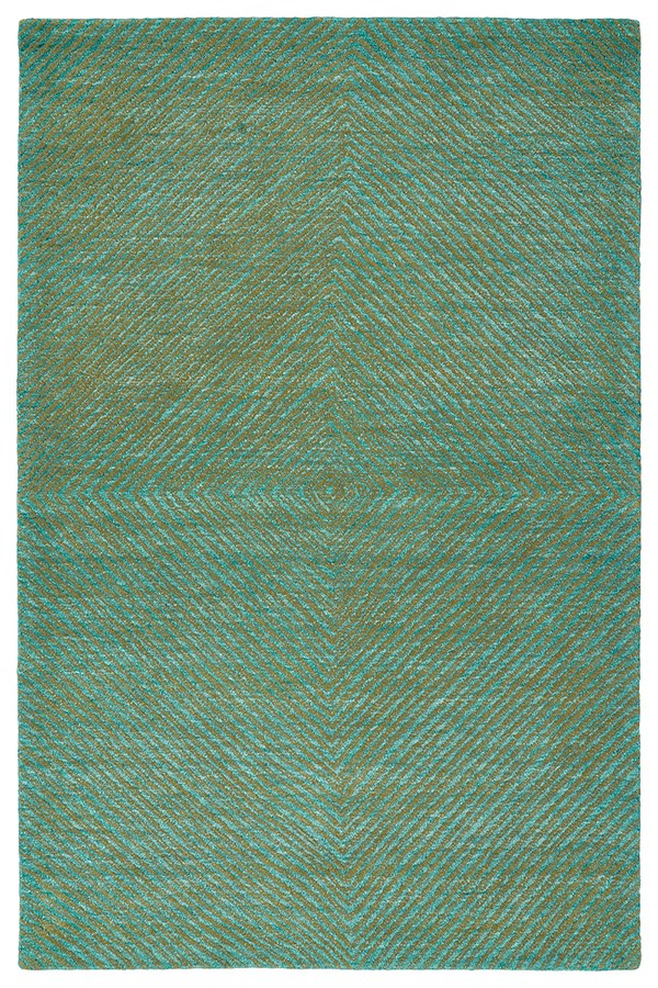 Dark Turquoise, Seaweed, Ivory (78) Transitional Area Rug
