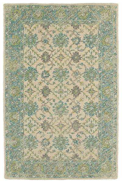 Linen, Teal, Lime Green, Graphite (91) Outdoor / Indoor Area Rug