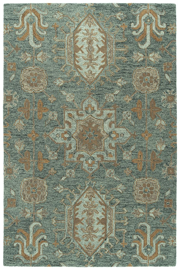 Pewter Green, Grey, Taupe (102) Traditional / Oriental Area Rug