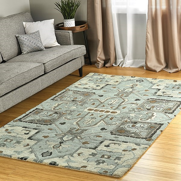 Spa, Charcoal, Brown (56) Traditional / Oriental Area Rug