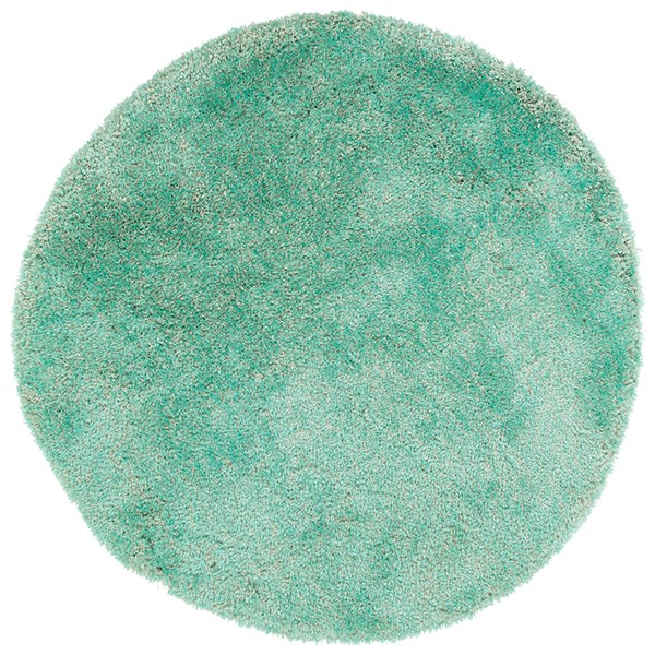 Turquoise (78) Shag Area Rug