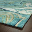 Product Image of Teal (91) Contemporary / Modern Area Rug
