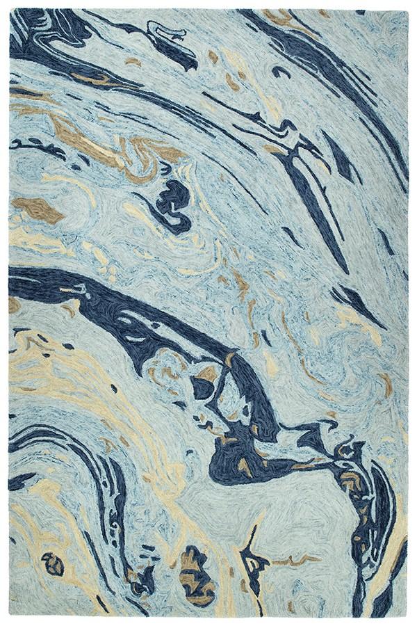 Blue (17) Contemporary / Modern Area Rug