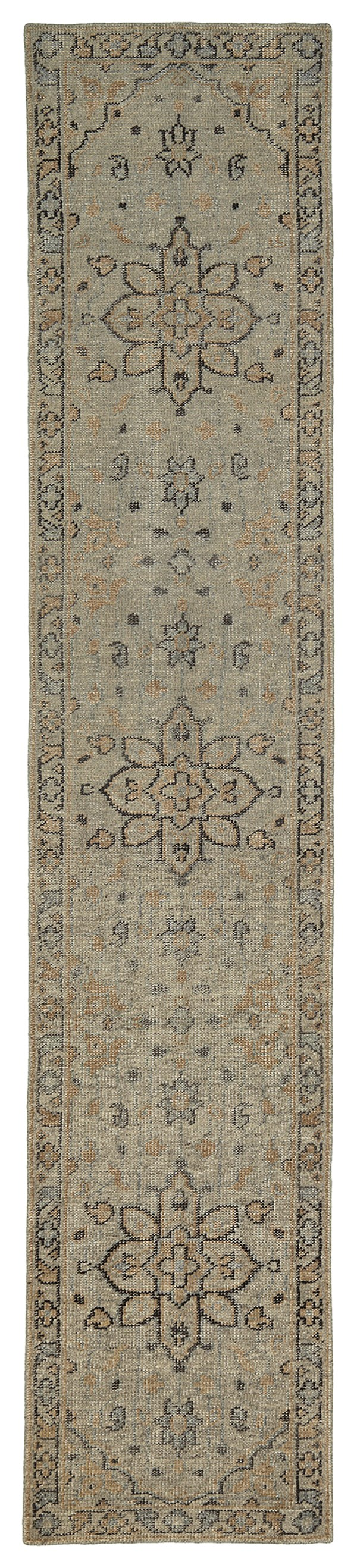 Pewter Green (102) Traditional / Oriental Area Rug