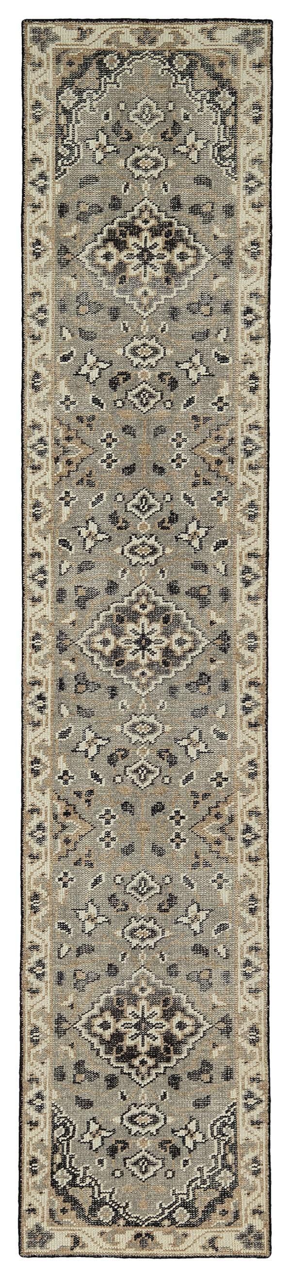 Grey (75) Traditional / Oriental Area Rug