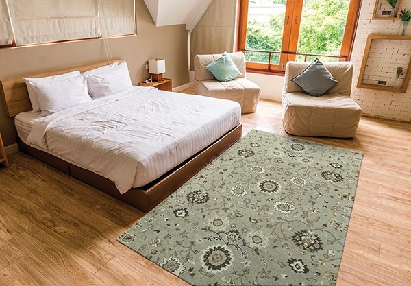Mint (88) Traditional / Oriental Area Rug