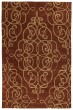 Product Image of Damask Red (25) Area Rug