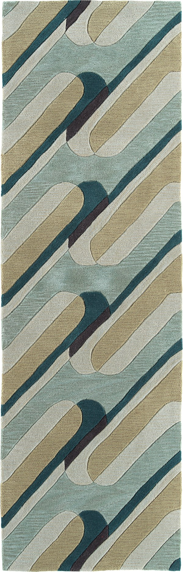 Teal (91) Contemporary / Modern Area Rug