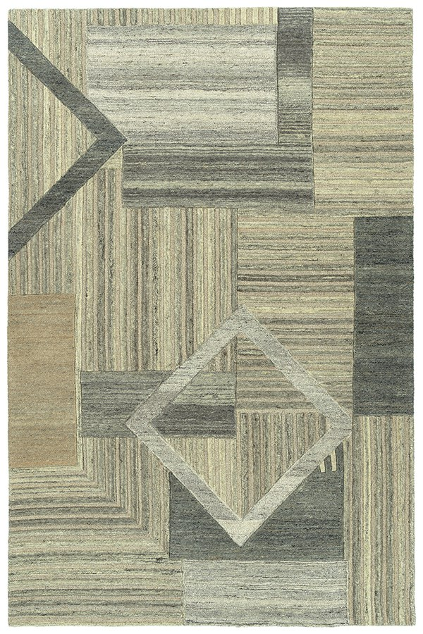 Sand, Taupe, Grey (49) Contemporary / Modern Area Rug