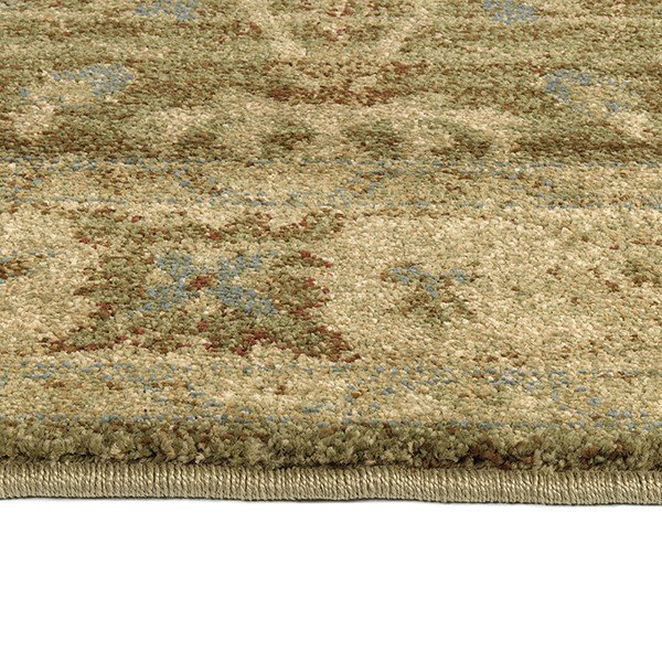 Sage, Cream, Brown (59) Traditional / Oriental Area Rug