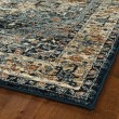 Product Image of Blue, Cream, Black (17) Traditional / Oriental Area Rug