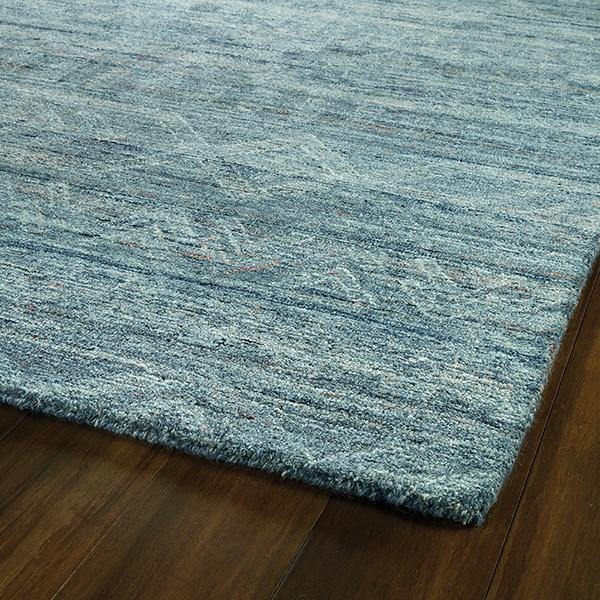 Blue, Navy, Linen (17) Rustic / Farmhouse Area Rug