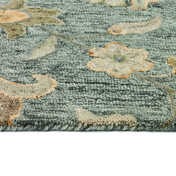 Azure, Olive, Mushroom (66)  Area Rug