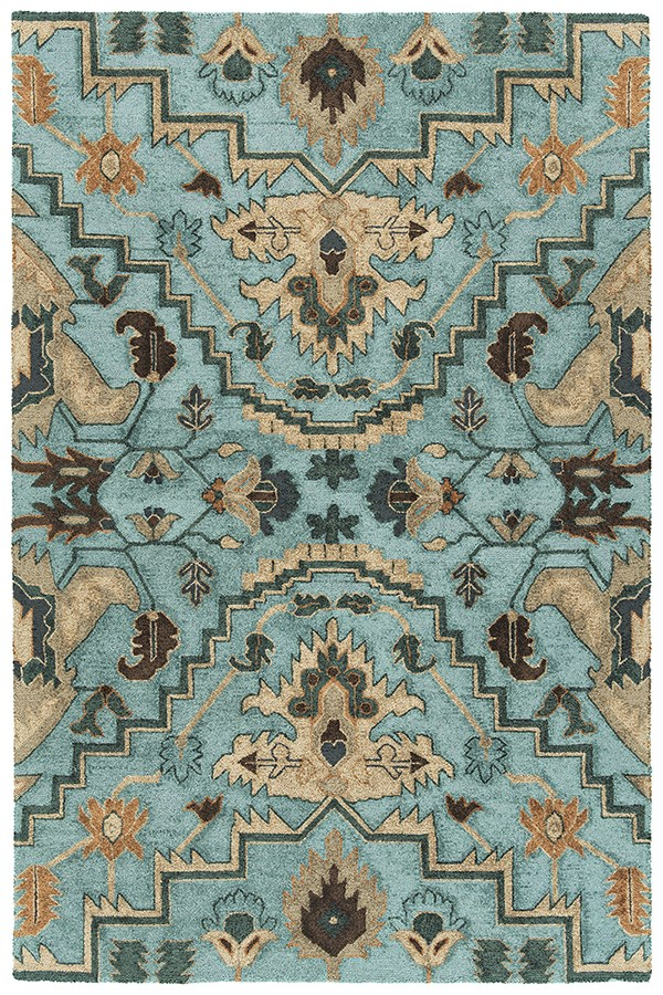 Blue, Fawn, Chocolate (17) Outdoor / Indoor Area Rug