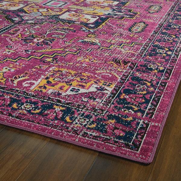 Pink, Plum, Gold (92) Outdoor / Indoor Area Rug