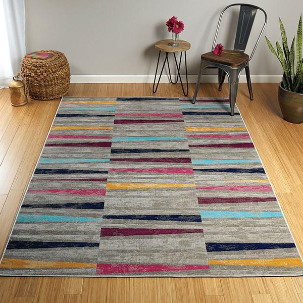 Grey, Turquoise, Plum (86) Outdoor / Indoor Area Rug
