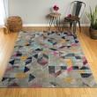 Product Image of Dark Grey, Navy, Pink (86) Outdoor / Indoor Area Rug